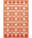 RugStudio presents Trans-Ocean Capri Oriental Square Red 1609/24 Hand-Tufted, Better Quality Area Rug