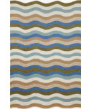 RugStudio presents Trans-Ocean Carlton Waves Aqua 1302/04 Hand-Tufted, Better Quality Area Rug