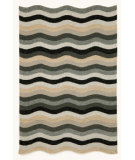 RugStudio presents Trans-Ocean Carlton Waves Black 1302/48 Hand-Tufted, Better Quality Area Rug