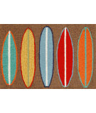 RugStudio presents Trans-Ocean Frontporch Surfboards Brown 1406/19 Hand-Tufted, Good Quality Area Rug