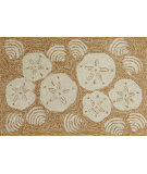 RugStudio presents Trans-Ocean Frontporch Shell Toss Natural 1408/22 Hand-Tufted, Better Quality Area Rug