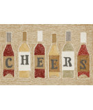 RugStudio presents Trans-Ocean Frontporch Cheers Neutral 1434/37 Hand-Tufted, Good Quality Area Rug