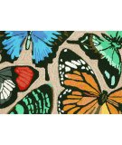 RugStudio presents Trans-Ocean Frontporch Butterfly Dance Neutral 1439/44 Hand-Tufted, Better Quality Area Rug