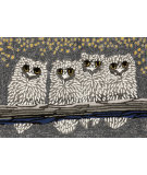 RugStudio presents Trans-Ocean Frontporch Owls Grey 1443/47 Hand-Tufted, Good Quality Area Rug