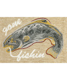 RugStudio presents Trans-Ocean Frontporch Gone Fishing Neutral 1444/12 Hand-Tufted, Good Quality Area Rug