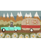 RugStudio presents Trans-Ocean Frontporch Camping Bear Neutral 1446/06 Hand-Tufted, Good Quality Area Rug