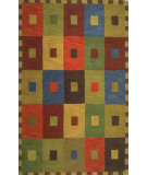 RugStudio presents Trans-Ocean Inca Squares Green 9440/44 Hand-Tufted, Best Quality Area Rug