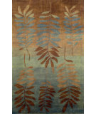 RugStudio presents Rugstudio Sample Sale 102221R Aqua 7110/04 Hand-Knotted, Better Quality Area Rug
