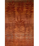 RugStudio presents Trans-Ocean Karela Fern Orange 7110/17 Hand-Knotted, Better Quality Area Rug