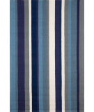 RugStudio presents Trans-Ocean Newport Verticle Stripe Blue 1660/03 Hand-Tufted, Good Quality Area Rug