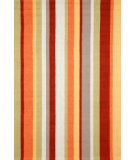 RugStudio presents Trans-Ocean Newport Uptown Stripe Orange 1660/44 Hand-Tufted, Good Quality Area Rug