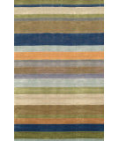 RugStudio presents Trans-Ocean Oslo Stripes Blue 2010/04 Hand-Tufted, Better Quality Area Rug