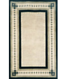 RugStudio presents Trans-Ocean Palermo Modern Border Black 7632/48 Hand-Knotted, Better Quality Area Rug