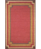 RugStudio presents Trans-Ocean Ravella Border Red 1905/24 Hand-Hooked Area Rug