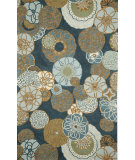 RugStudio presents Rugstudio Sample Sale 102301R Denim 2064/33 Hand-Hooked Area Rug