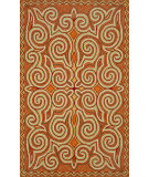 RugStudio presents Trans-Ocean Ravella Kazakh Orange 2158/17 Hand-Hooked Area Rug