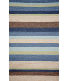 RugStudio presents Trans-Ocean Ravella Stripe Denim 1900/33 Hand-Hooked Area Rug