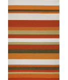 RugStudio presents Trans-Ocean Ravella Stripe Orange 1900/17 Hand-Hooked Area Rug