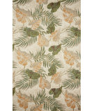 RugStudio presents Trans-Ocean Ravella Tropical Leaf Neutral 2066/12 Hand-Hooked Area Rug