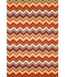 RugStudio presents Trans-Ocean Ravella Zigzag Orange 2182/44 Hand-Hooked Area Rug