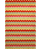 RugStudio presents Trans-Ocean Seville Zigzag Stripe Red 9666/44 Hand-Hooked Area Rug