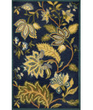 RugStudio presents Trans-Ocean Seville Floral Navy 9679/33 Hand-Tufted, Best Quality Area Rug