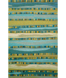 RugStudio presents Rugstudio Sample Sale 102345R Turquoise 9625/03 Hand-Hooked Area Rug