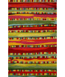 RugStudio presents Trans-Ocean Seville Mosaic Stripe Red 9625/24 Hand-Hooked Area Rug