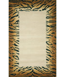 RugStudio presents Trans-Ocean Seville Tiger Border Neutral 9632/19 Hand-Hooked Area Rug