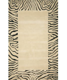 RugStudio presents Trans-Ocean Seville Zebra Border Neutral 9634/12 Hand-Hooked Area Rug