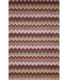 RugStudio presents Trans-Ocean Seville Zigzag Stripe Purple 9666/49 Hand-Hooked Area Rug