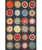 RugStudio presents Trans-Ocean Siena Sm Pop Circles Navy 8000/33 Hand-Hooked Area Rug