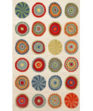 RugStudio presents Trans-Ocean Siena Small Pop Circles Neutral 8000/12 Hand-Hooked Area Rug