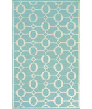 RugStudio presents Trans-Ocean Spello Arabesque Aqua 2117/04 Hand-Hooked Area Rug