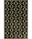 RugStudio presents Trans-Ocean Spello Arabesque Black 2117/48 Hand-Hooked Area Rug