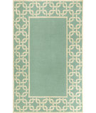 RugStudio presents Trans-Ocean Spello Chain Border Aqua 2142/04 Hand-Hooked Area Rug