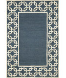 RugStudio presents Trans-Ocean Spello Chain Border Denim 2142/33 Hand-Hooked Area Rug