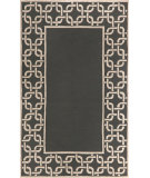 RugStudio presents Trans-Ocean Spello Chain Border Charcoal 2142/98 Hand-Hooked Area Rug