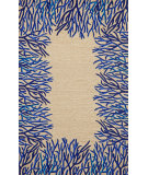 RugStudio presents Trans-Ocean Spello Coral Bdr Neutral 2173/03 Hand-Hooked Area Rug