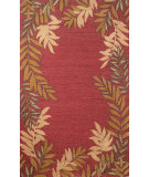 RugStudio presents Trans-Ocean Spello Fern Border Red 1918/24 Hand-Hooked Area Rug