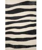 RugStudio presents Trans-Ocean Spello Wavey Stripe Black 2116/48 Hand-Hooked Area Rug