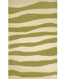 RugStudio presents Trans-Ocean Spello Wavey Stripe Sage 2116/16 Hand-Hooked Area Rug