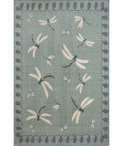RugStudio presents Trans-Ocean Terrace Dragonfly Aqua 1746/73 Woven Area Rug