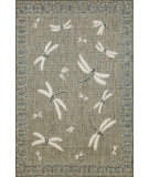 RugStudio presents Trans-Ocean Terrace Dragon Fly Silver 1746/68 Woven Area Rug