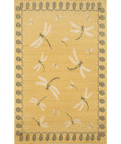RugStudio presents Trans-Ocean Terrace Dragonfly Yellow 1746/59 Woven Area Rug