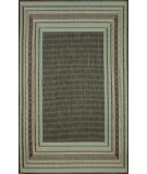 RugStudio presents Trans-Ocean Terrace Etched Border Aqua 1736/73 Woven Area Rug