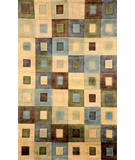 RugStudio presents Trans-Ocean Karela Boxes Green 7115-06 Hand-Knotted, Good Quality Area Rug