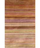 RugStudio presents Trans-Ocean Karela Stripe Blush 7124-37 Hand-Knotted, Good Quality Area Rug