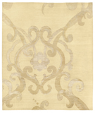 RugStudio presents Tufenkian Shakti Assumed Arabesque Parchment Hand-Knotted, Good Quality Area Rug