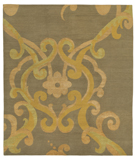 RugStudio presents Tufenkian Shakti Assumed Arabesque Verdigris Hand-Knotted, Good Quality Area Rug